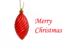 Hanging red spiral Christmas ornament Royalty Free Stock Photos