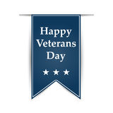 Hanging ribbon on the day of America's veterans Stock Photos