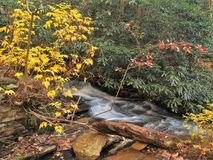 Hanging Rock Cascades. A small set of cascades below Lower Falls at Hanging Rock State Park in North Carolina Stock Photos