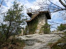 Hanging Rock Fire Tower Royalty Free Stock Image