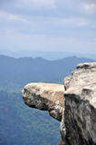 Hanging Rock jutting out of the cliff scenic. National prk Thailand Stock Image