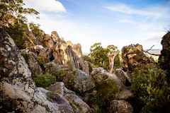 Hanging Rock in Macedon Ranges Stock Photography
