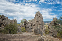 Hanging Rock, Mount Macedon Ranges. Site of the famous Picnic at Hanging Rock film which documents the mystery disappearance of several college school girls in Stock Image