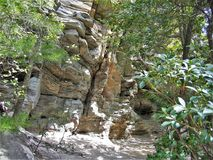 Hanging Rock State Park. Along a hiking trail at Hanging Rock State Park in North Carolina Stock Photos