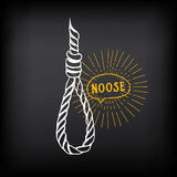 Hanging rope, noose sketch design vector. Stock Photo