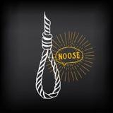 Hanging rope, noose sketch design vector. Stock Photo