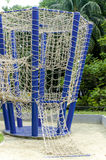 The hanging ropes in a children playground attraction Stock Images