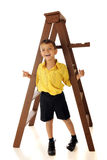 Hanging 'Round a Ladder Stock Photography