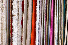Hanging rugs Stock Photo