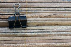 The hanging rust clip on the bamboo stock photo