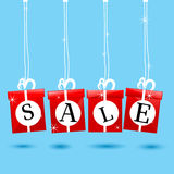 Hanging sale icon Stock Photo