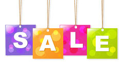 Hanging Sale Labels Stock Photography