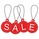 Hanging sale tags 2 Royalty Free Stock Photos