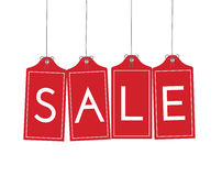 Hanging Sale Tags Royalty Free Stock Image