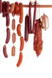 Hanging sausage Stock Photography
