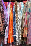 Hanging scarves Stock Image