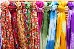 Hanging scarves Royalty Free Stock Photos