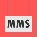 Hanging Sign mms. Vector icon Stock Photography