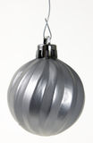 Hanging Silver Christmas Ornament Royalty Free Stock Photography