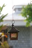 Hanging Smoked Galss Handicraft Lantern Stock Images