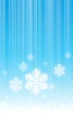 Hanging Snowflakes Stock Images