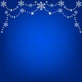 Hanging snowflakes Royalty Free Stock Photo