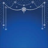 Hanging snowflakes Stock Photos