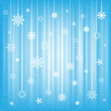 The hanging snowflakes Royalty Free Stock Photography