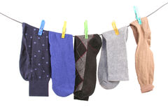 Hanging Socks Stock Photos
