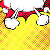 Hanging Speech Bubble Cloud Pop-Art Style Stock Photo