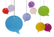 Hanging Speech Bubbles Royalty Free Stock Image