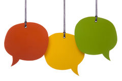 Hanging Speech Bubbles Royalty Free Stock Photography