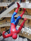 A hanging Spider-Man figurine displayed at a Bangk Stock Photography
