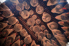 Hanging Spiral Incense as Prayers Royalty Free Stock Photos