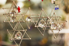 Hanging stars of david Royalty Free Stock Photo