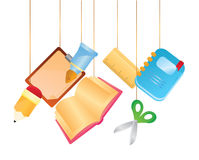 Hanging stationary icons Royalty Free Stock Image