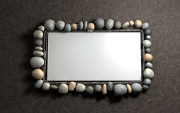 Hanging Stone Picture Frame Stock Photography