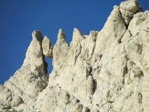 Hanging stone Rocky peak of Apennine Mountain Range Royalty Free Stock Photo
