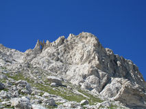 Hanging stone Rocky peak of Apennine Mountain Range Royalty Free Stock Photography