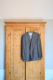 Hanging suit Royalty Free Stock Photography