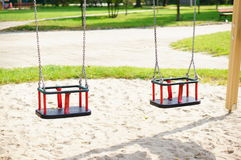 Hanging swings Stock Photography