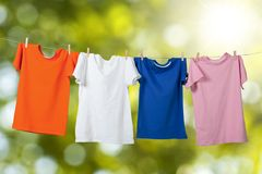 Hanging T-Shirts Royalty Free Stock Images