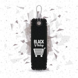 hanging tag of black friday design Stock Images