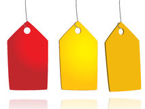 Hanging tags Royalty Free Stock Images