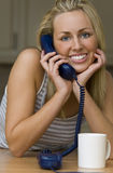 Hanging On The Telephone Royalty Free Stock Photos