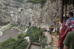 The hanging temple Stock Photography