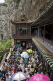 The hanging temple Stock Images