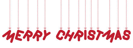 Hanging text Merry Christmas Royalty Free Stock Images