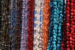 Hanging Textured Necklaces Royalty Free Stock Image