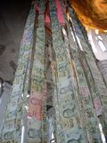 hanging Thailand banknotes stock photography